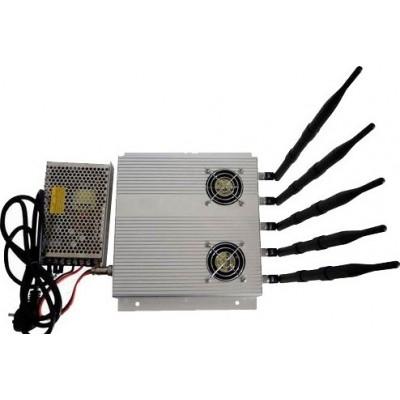 5 antennes. Bloqueur de signaux haute puissance de 25 W avec alimentation externe détachable Cell phone