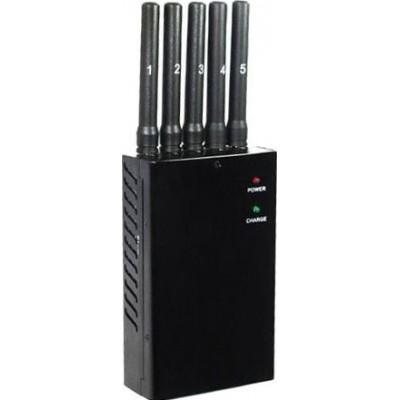 92,95 € Бесплатная доставка | Блокаторы мобильных телефонов 5 антенн. Портативный блокатор сигналов GPS GPS L1 Portable