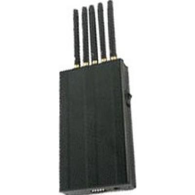 5 bandes. Bloqueur de signal portable haute puissance GPS