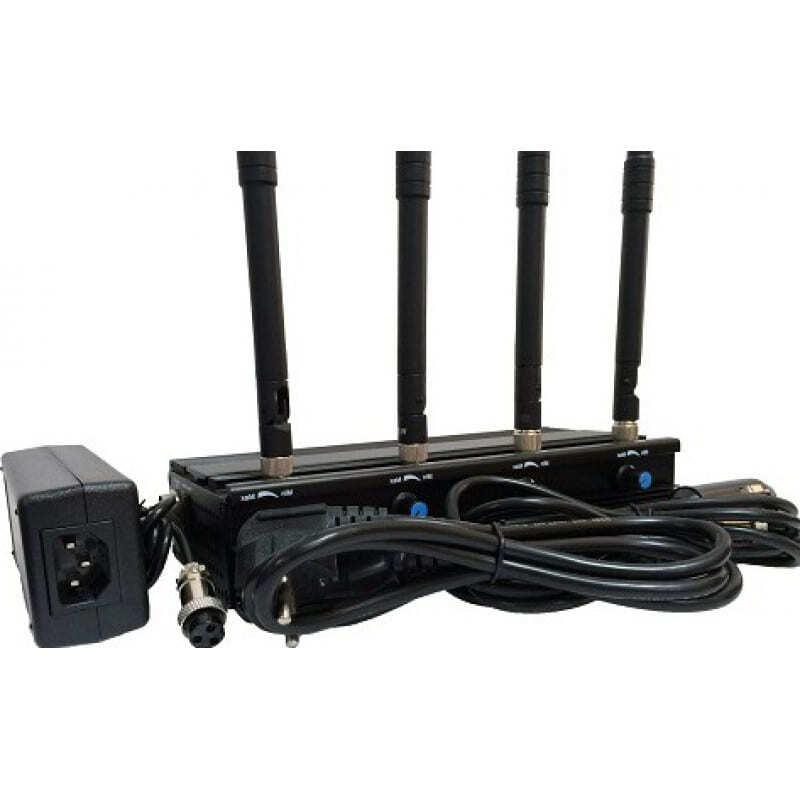 223,95 € Envio grátis | Bloqueadores de WiFi Bloqueador de sinal ajustável. 4 Antenas WiFi 5.2G