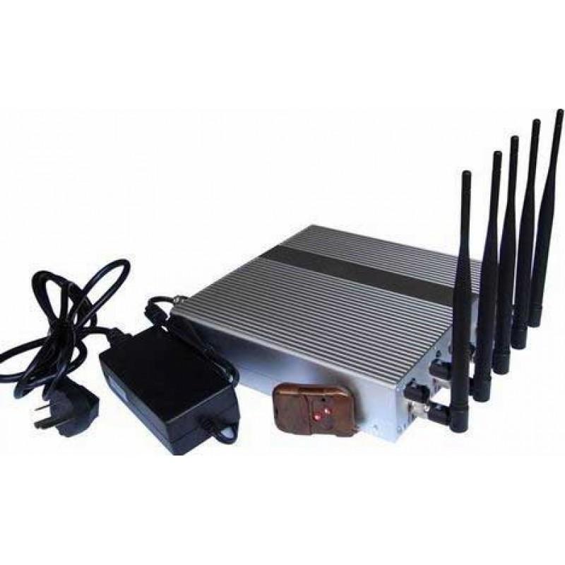 87,95 € Envoi gratuit | Bloqueurs de Téléphones Mobiles 5 bandes. Bloqueur de signal ajustable avec télécommande Cell phone 3G