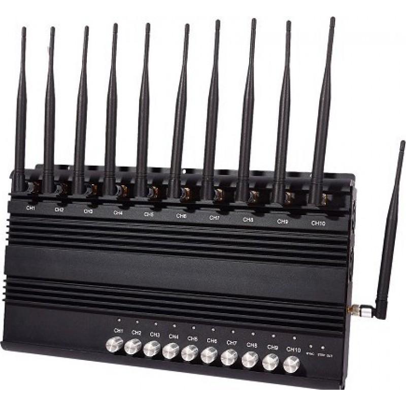 228,95 € Бесплатная доставка | Блокаторы мобильных телефонов 10 полос. Регулируемый мощный блокатор сигналов GPS GSM