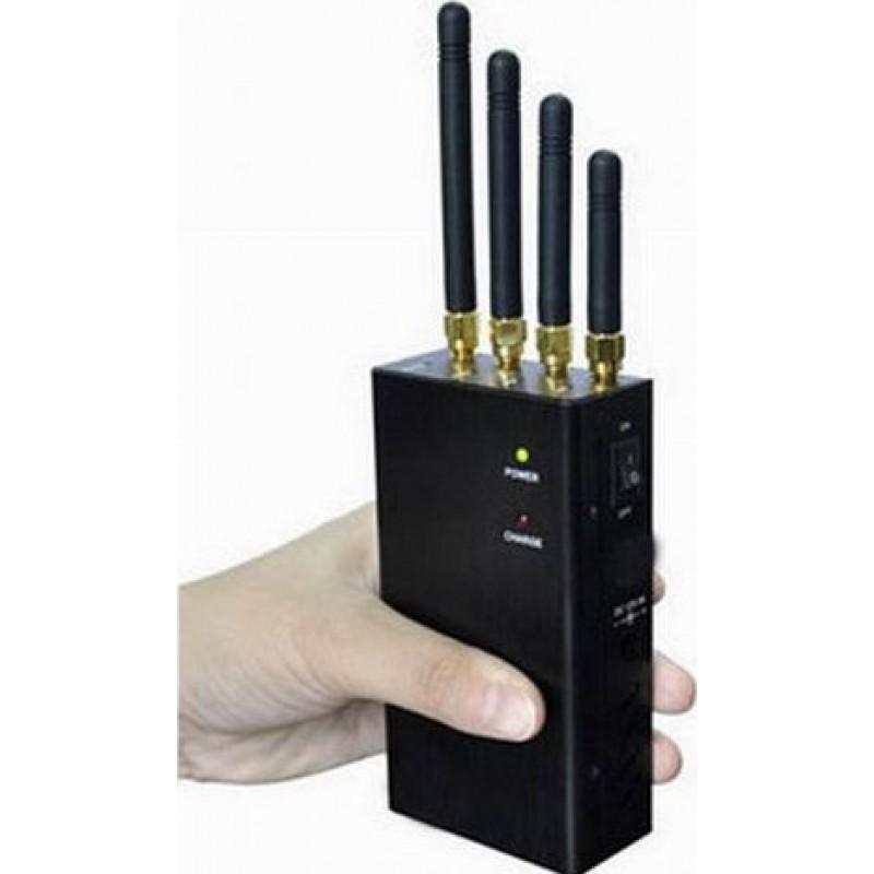 62,95 € 免费送货 | 手机干扰器 4个乐队。 2W便携式信号阻断器 Cell phone 3G Portable