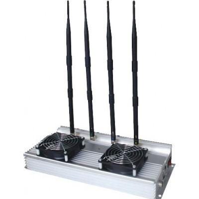 45W Bloqueur de signaux intérieur haute puissance. Antennes omnidirectionnelles Cell phone