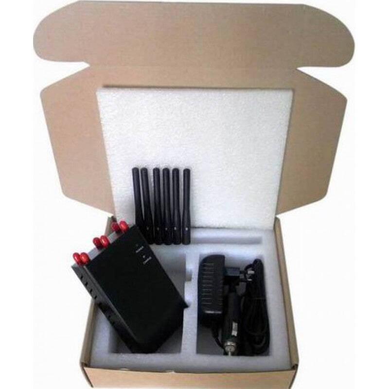 97,95 € Envoi gratuit | Bloqueurs de Téléphones Mobiles 6 antennes. Bloqueur de signal portable sélectionnable GPS 3G Handheld