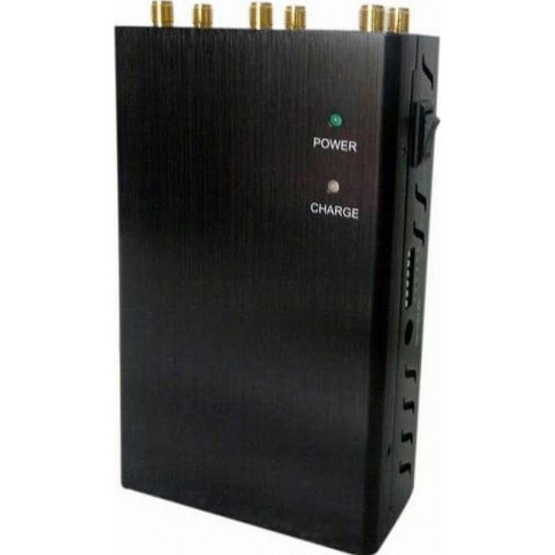 97,95 € Envoi gratuit | Bloqueurs de Téléphones Mobiles 6 antennes. Bloqueur de signal portable Cell phone 3G Portable