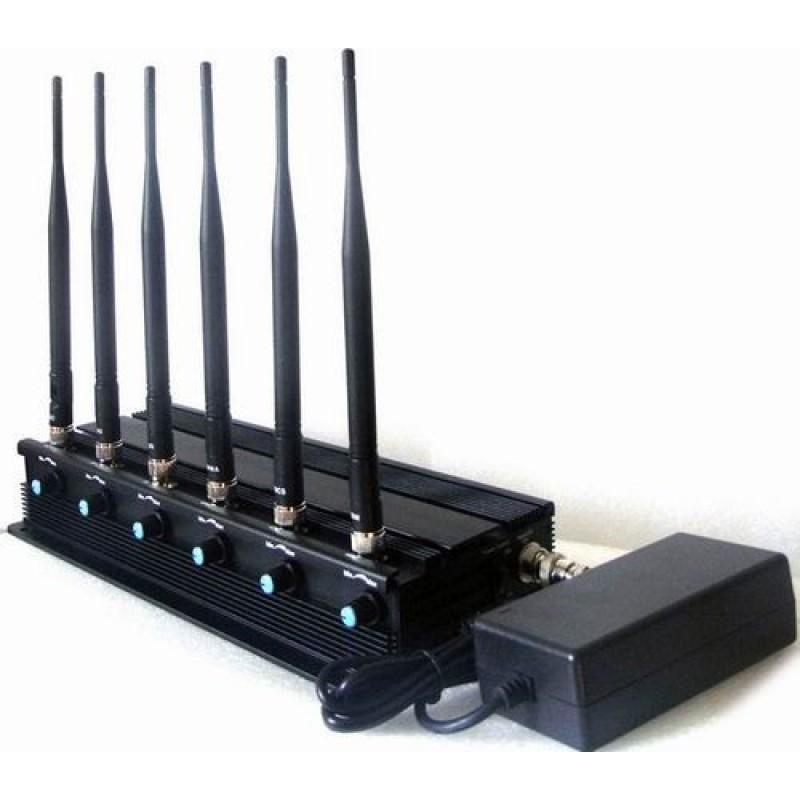 124,95 € Бесплатная доставка   Блокаторы мобильных телефонов Регулируемый блокатор сигналов. Блокиратор сигналов рации Cell phone VHF