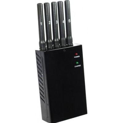 82,95 € Бесплатная доставка | Блокаторы мобильных телефонов Все частоты портативного блокатора сигналов с 5 мощными антеннами Cell phone 3G Portable