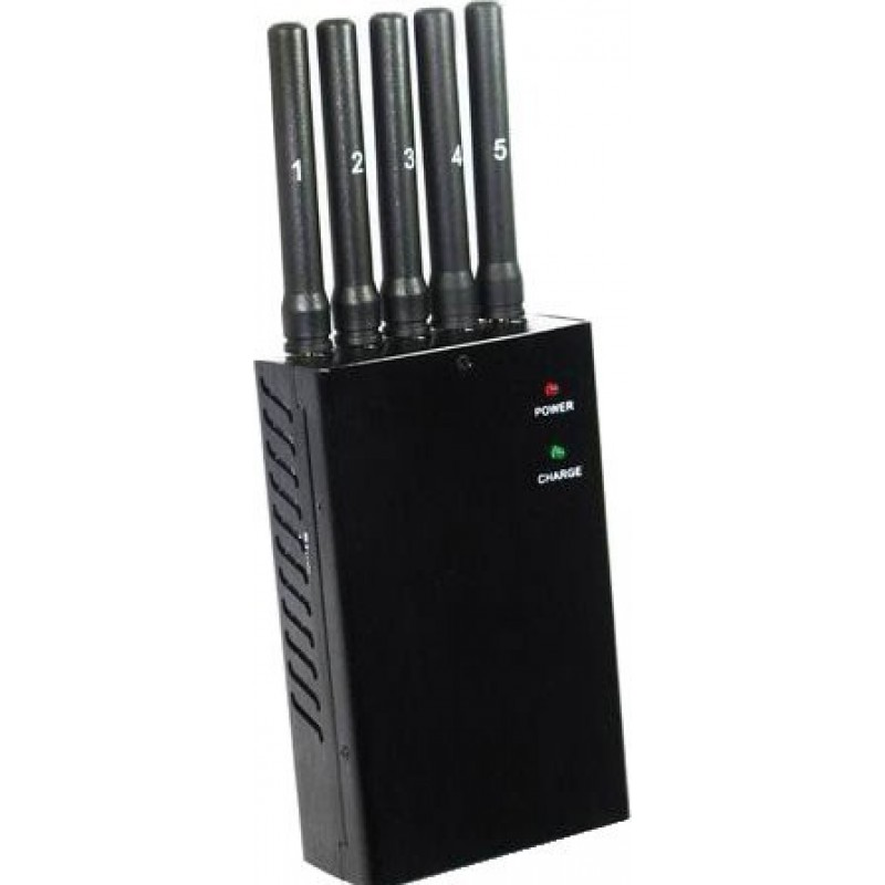 82,95 € Free Shipping | Cell Phone Jammers All frequencies portable signal blocker with 5 powerful antennas Cell phone 3G Portable