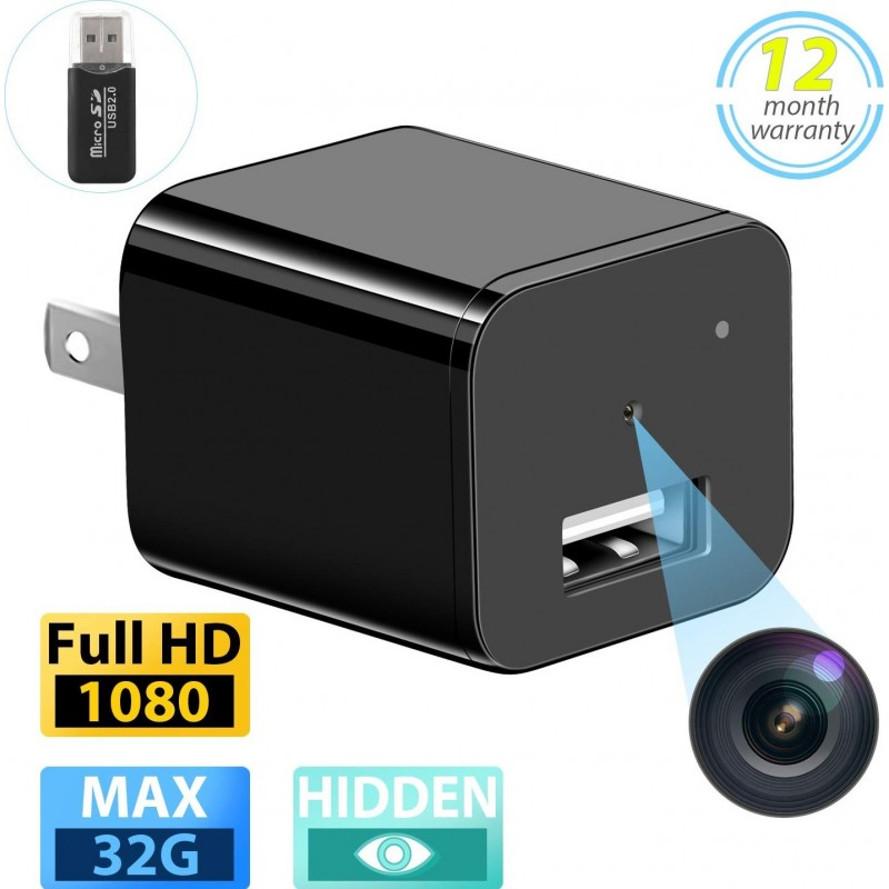 39,95 € Free Shipping | Other Hidden Cameras Spy Camera. USB Wall Charger. Full HD 1080P. Mini Hidden Nanny Cam. Surveillance Camera