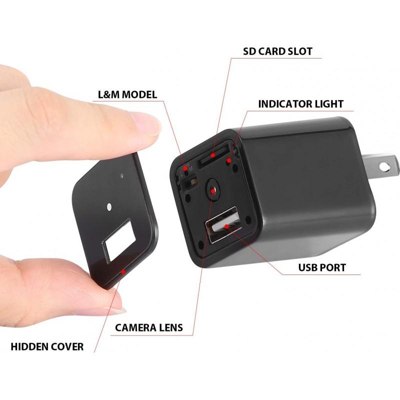 39,95 € Envoi gratuit   Autres Caméras Espion Caméra espion. Chargeur mural USB. Full HD 1080P. Mini caméra cachée de nourrice. Caméra de surveillance