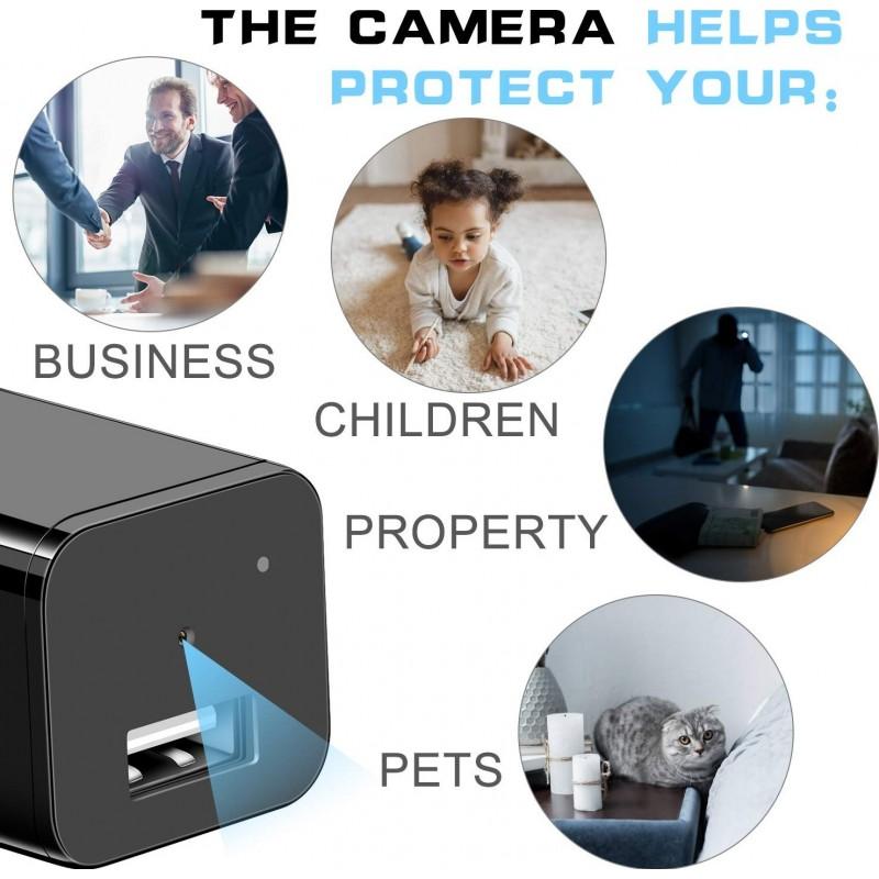 39,95 € Бесплатная доставка | Другие скрытые камеры Шпионская камера. USB зарядное устройство. Full HD 1080P. Мини Скрытая няня Cam. Камера слежения