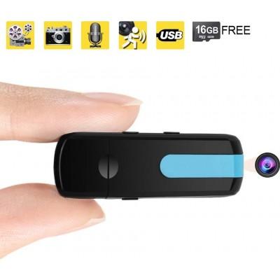 41,95 € 免费送货 | USB驱动器隐藏式摄像头 USB闪存盘。便携式隐藏式摄像机。 16 GB。运动检测。 DV摄录机。家居装修
