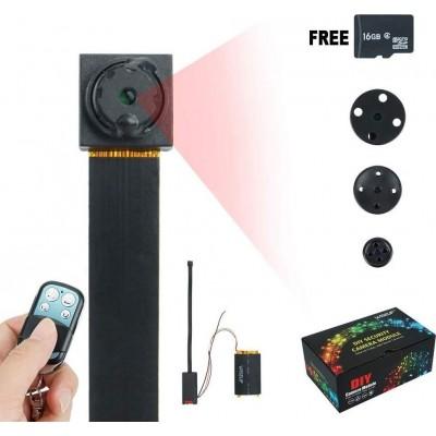 49,95 € Envío gratis | Otras Cámaras Ocultas Botón con cámara oculta. Mini videocámara DV. 16 GB. 1920x1080P HD. Detección de movimiento. Seguridad