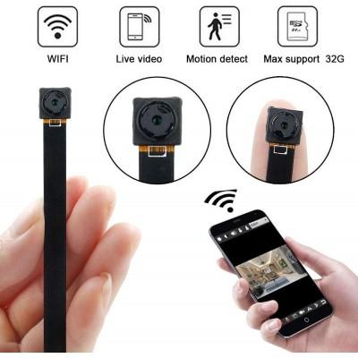 64,95 € Бесплатная доставка | Другие скрытые камеры Мини шпионская WiFi камера. 1080P. Скрытая камера безопасности. Wireless. Портативный. Ночное видение