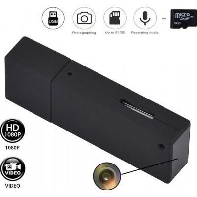39,95 € 免费送货 | USB驱动器隐藏式摄像头 带有迷你间谍相机的USB密钥。高清视频。 1080P。 8GB。微。带声音的录像机
