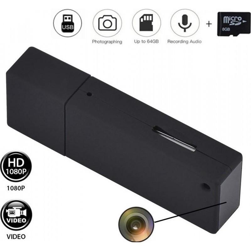 39,95 € Envoi gratuit | USB Espion Porte-CLÉS .Clef USB. Non Poreux Mini Clé USB. Espion Caméra. Vidéo HD. 1080P 8Go Micro. Vidéo Enregistreur avec Son