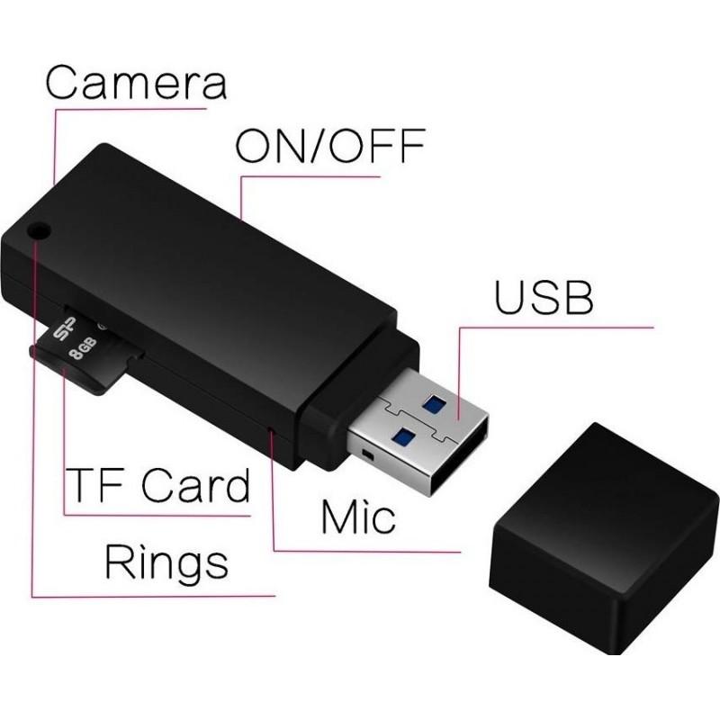 39,95 € Kostenloser Versand   USB-Sticks mit versteckten Kameras USB-Stick mit Mini Spy Camera. HD-Video. 1080P. 8 GB. Mikro. Videorecorder mit Ton