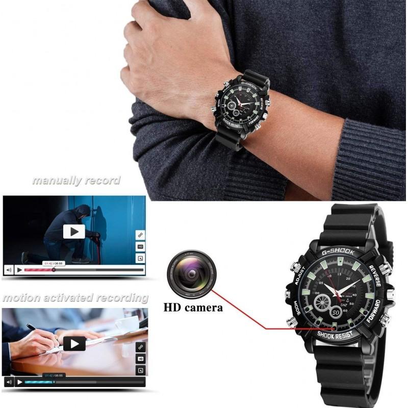 22,95 € Kostenloser Versand   Armbanduhren mit versteckten Kameras Beobachten Sie mit der Multifunktionskamera. HD 1080P. Mini 16G. Nachtsicht. Wiederaufladbar. Einfache Operation