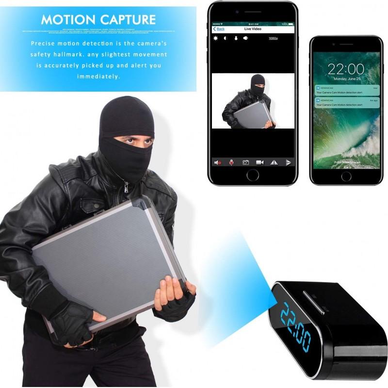 54,95 € Envoi gratuit | Montres Espion Horloge caméra cachée espion. HD 1080P. Wifi. Vision nocturne. Détection de mouvement. Surveillance. SD 16 Go