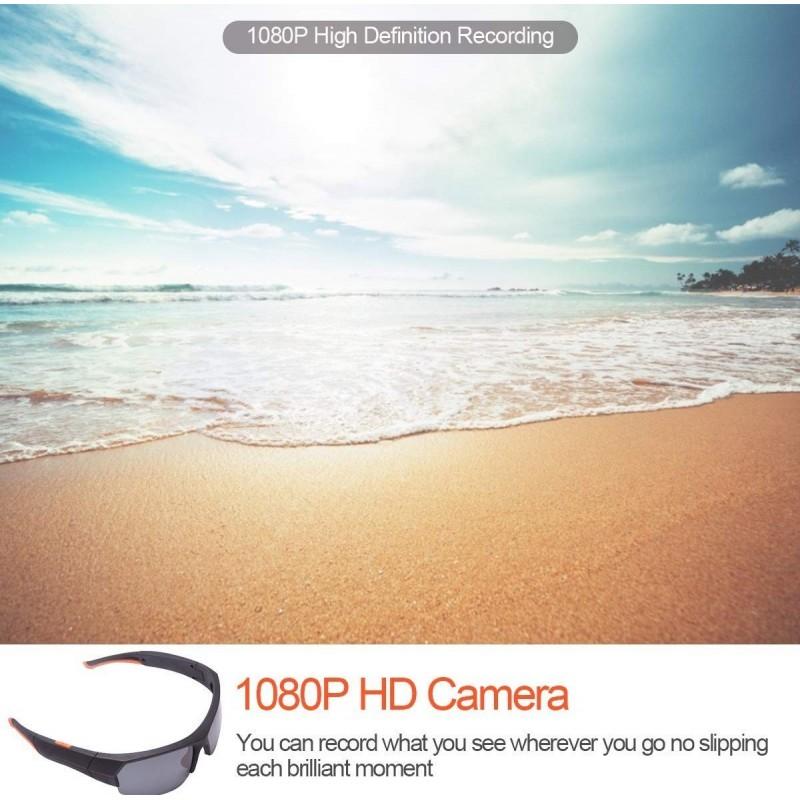 66,95 € Envoi gratuit   Lunettes Espion Lunettes de soleil avec caméra cachée. Sans fil. Bluetooth. 1080P. Haute définition. Mémoire intégrée de 32 Go
