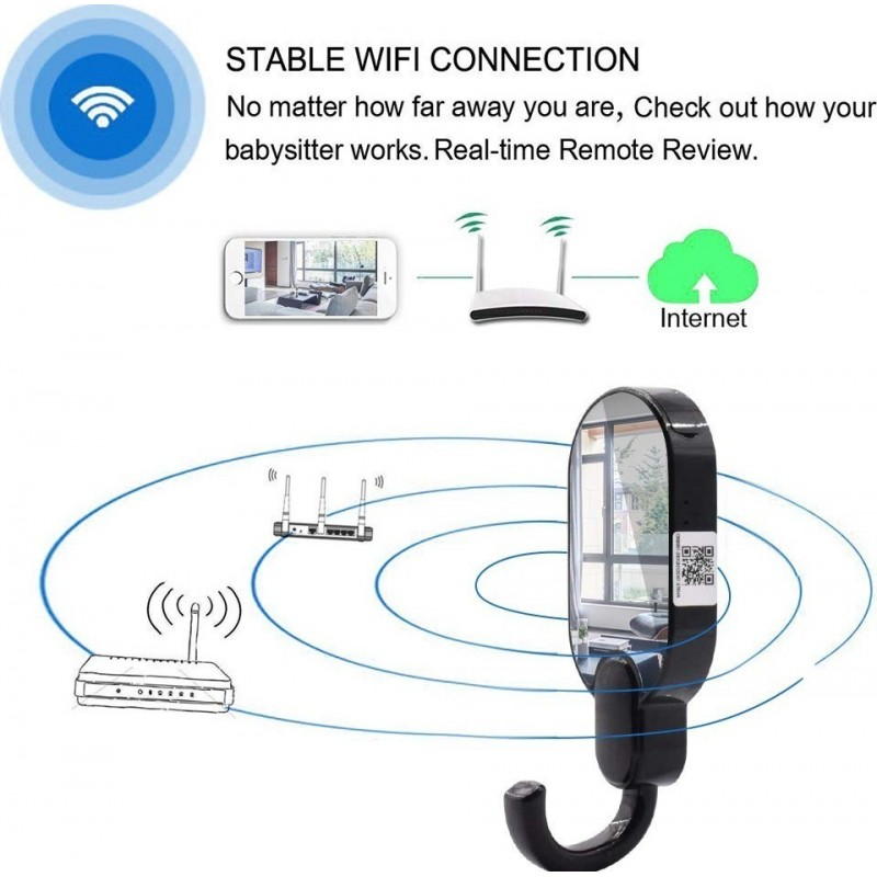 49,95 € Free Shipping | Other Hidden Cameras Clothes Hook With Hidden Camera. Wireless. 1080P. WIFI. Security Camera. Night Vision. Motion Detection