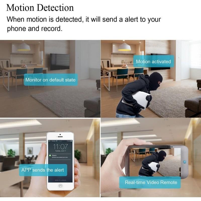 58,95 € Spedizione Gratuita   Orologi Spia Sveglia con telecamera spia. Motion Detection. Visione notturna. Wi-Fi. HD. Loop Recorder. Vista in tempo reale