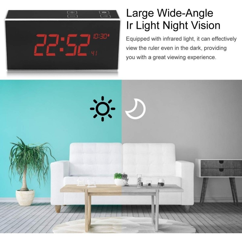66,95 € Envío gratis | Relojes Espía Reloj despertador con cámara oculta. TouchKey. DVR Vision nocturna. Gran angular de 160 °. Detección de movimiento. Wifi. HD