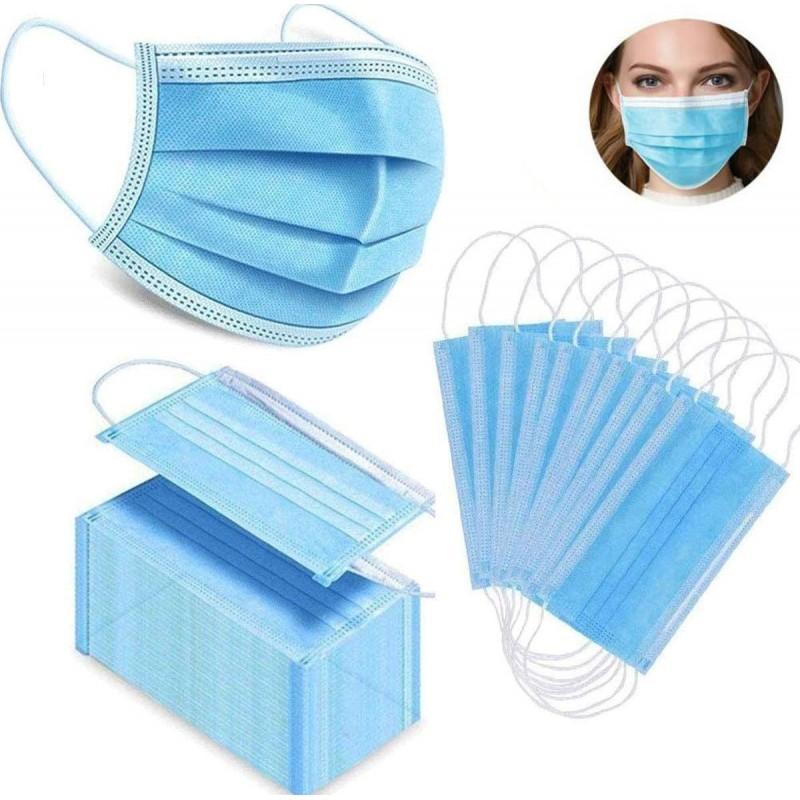 盒装200个 呼吸防护面罩 一次性面部卫生口罩。呼吸系统防护。三层过滤透气