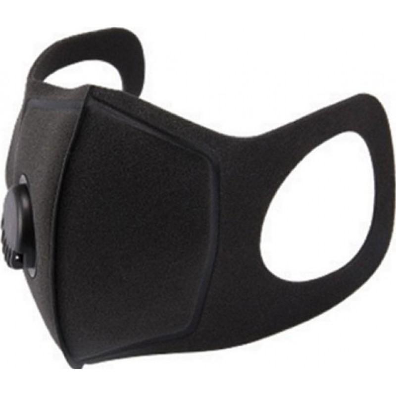 Scatola da 10 unità Maschere Protezione Respiratorie Maschera con filtro a carbone attivo con valvola di respirazione. PM2.5. Maschera in cotone lavabile e riutilizzabile. Unisex