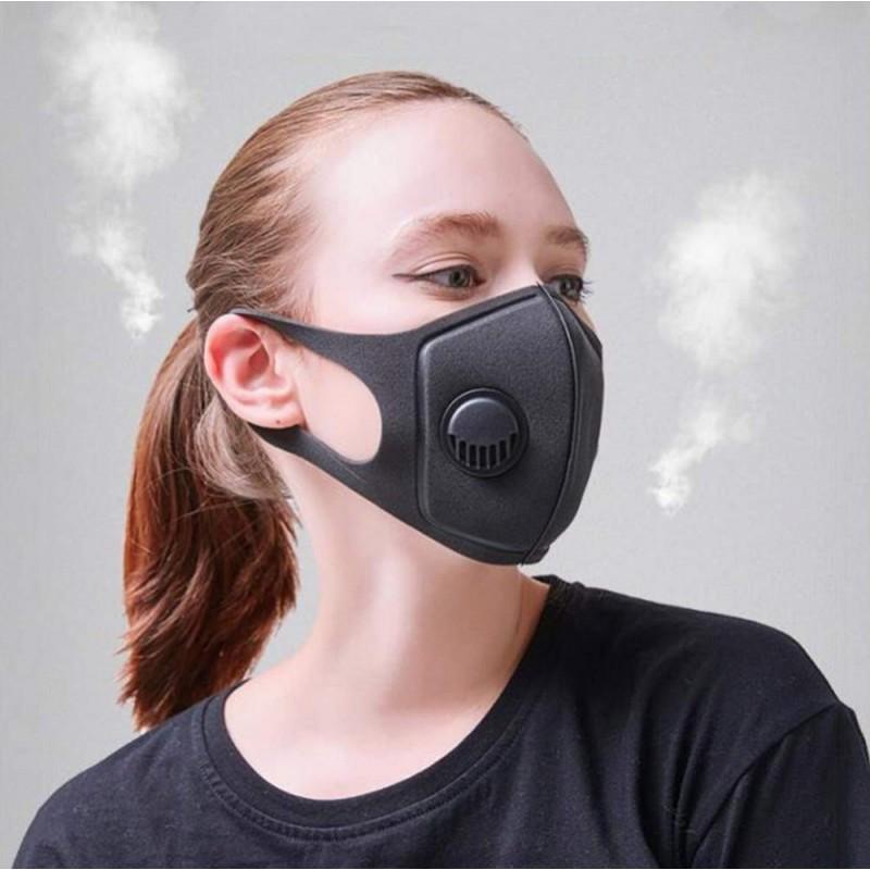 10 Einheiten Box Atemschutzmasken Aktivkohlefiltermaske mit Atemventil. PM2.5. Waschbare und wiederverwendbare Baumwollmaske. Unisex