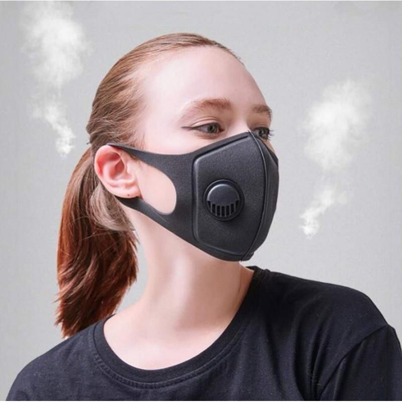 84,95 € Envío gratis | Caja de 20 unidades Mascarillas Protección Respiratoria Mascarilla autofiltrante de carbón activado con válvula de exhalación. PM2.5. Lavable y reutilizable
