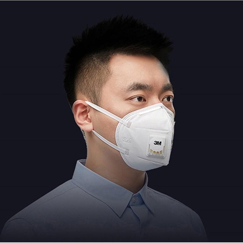 149,95 € Бесплатная доставка | Коробка из 20 единиц Респираторные защитные маски 3M 9501V+ KN95 FFP2. Респираторная защитная маска с клапаном. PM2.5 Респиратор с фильтром частиц