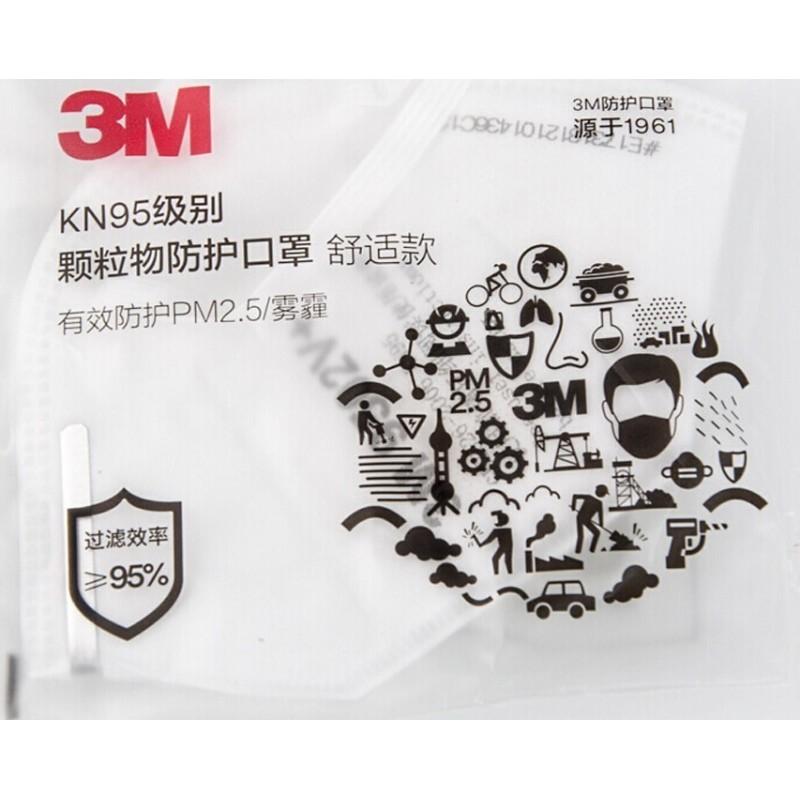 149,95 € 送料無料 | 20個入りボックス 呼吸保護マスク 3M 9501V+ KN95 FFP2。バルブ付き呼吸保護マスク。 PM2.5粒子フィルターマスク