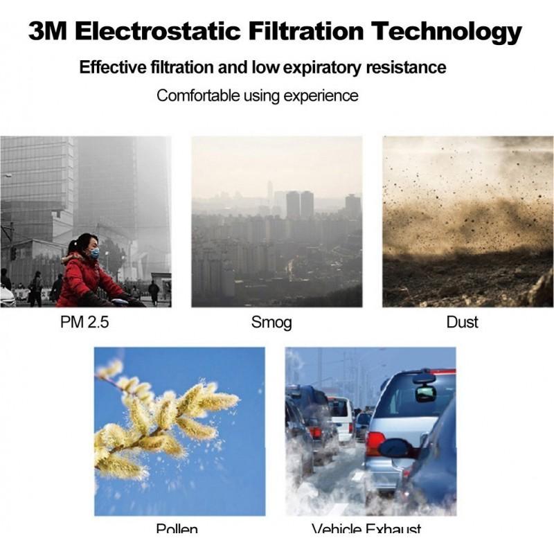 349,95 € Envoi gratuit | Boîte de 50 unités Masques Protection Respiratoire 3M 9501V+ KN95 FFP2. Masque de protection respiratoire avec valve. Respirateur à filtre à particules PM2.5