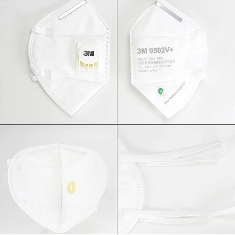 385,95 € Free Shipping | 50 units box Respiratory Protection Masks 3M 9502V+ KN95 FFP2 Respiratory protection mask with valve. PM2.5 Particle filter respirator