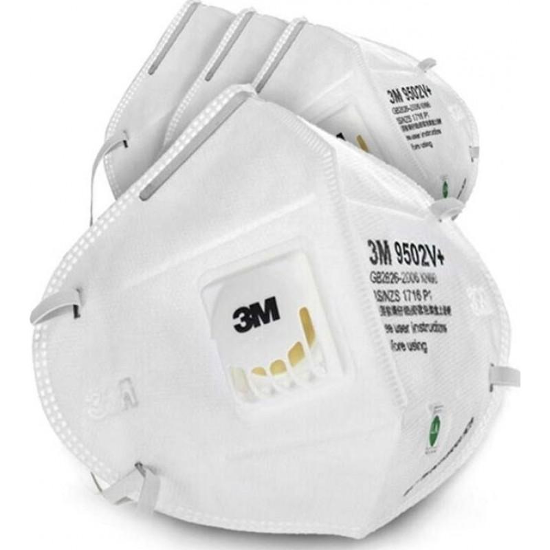 349,95 € Envio grátis   Caixa de 50 unidades Máscaras Proteção Respiratória 3M 3M 9502V+ KN95 FFP2 Máscara de proteção respiratória com válvula. Respirador com filtro de partículas PM2.5