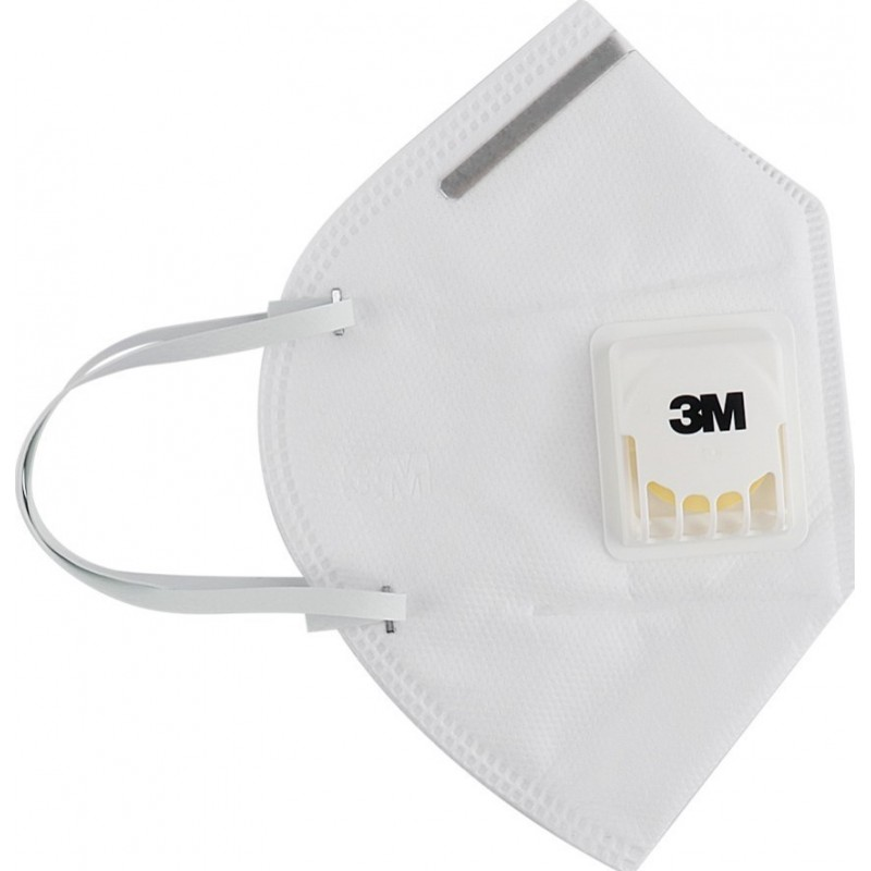 599,95 € 送料無料 | 100個入りボックス 呼吸保護マスク 3M 3M 9502V+ KN95 FFP2バルブ付き呼吸保護マスク。 PM2.5粒子フィルターマスク