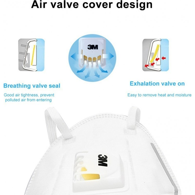 685,95 € Free Shipping | 100 units box Respiratory Protection Masks 3M 9502V+ KN95 FFP2 Respiratory protection mask with valve. PM2.5 Particle filter respirator