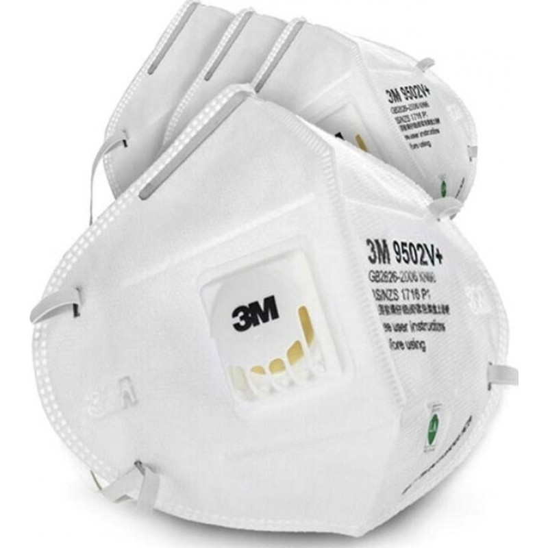 599,95 € Spedizione Gratuita | Scatola da 100 unità Maschere Protezione Respiratorie 3M 3M 9502V+ KN95 FFP2 Maschera di protezione delle vie respiratorie con valvola. PM2.5 Respiratore con filtro antiparticolato