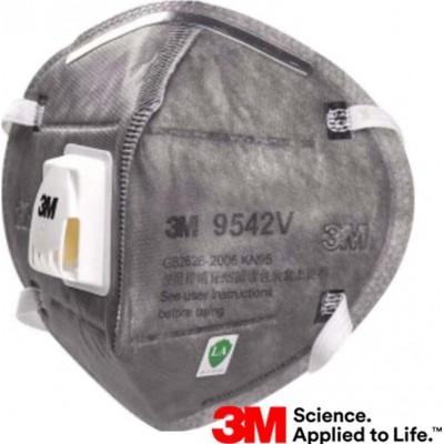89,95 € Spedizione Gratuita | Scatola da 10 unità Maschere Protezione Respiratorie 3M 9542V KN95 FFP2. Maschera di protezione delle vie respiratorie con valvola. PM2.5. Respiratore con filtro antiparticolato