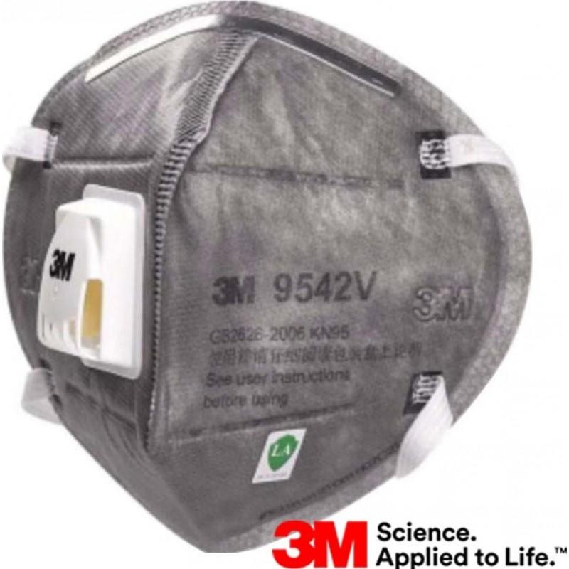 89,95 € Бесплатная доставка | Коробка из 10 единиц Респираторные защитные маски 3M 9542 В KN95 FFP2. Респираторная защитная маска с клапаном. PM2.5. Респиратор с фильтром частиц