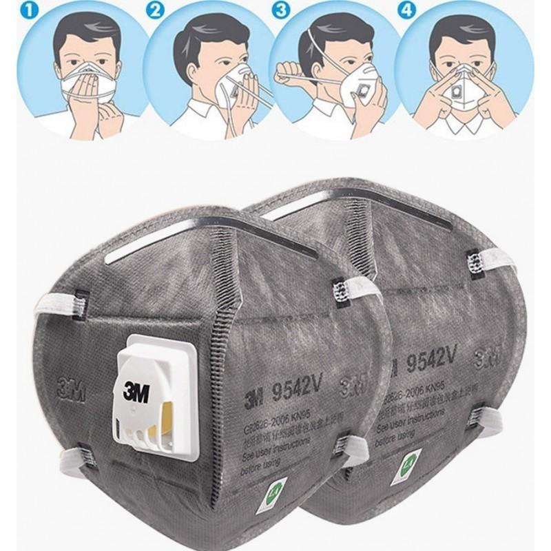 89,95 € Envoi gratuit | Boîte de 10 unités Masques Protection Respiratoire 3M 9542V KN95 FFP2. Masque de protection respiratoire avec valve. PM2.5. Respirateur à filtre à particules