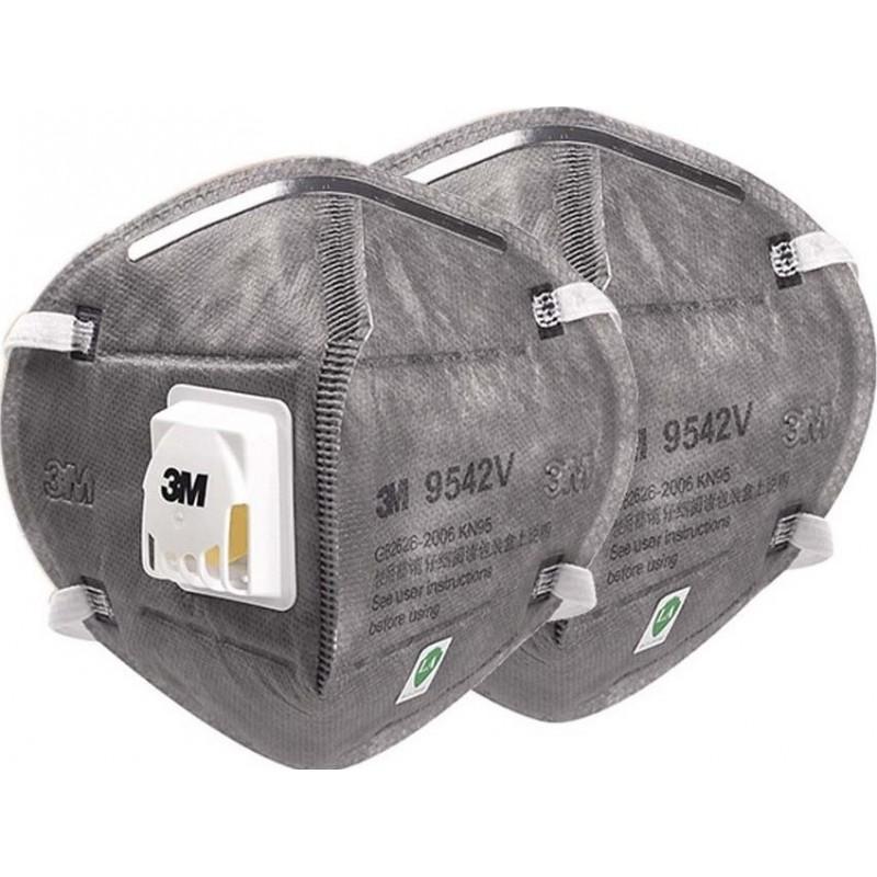 105,95 € Envío gratis | Caja de 10 unidades Mascarillas Protección Respiratoria 3M 9542V KN95 FFP2. Mascarilla de protección respiratoria autofiltrante con válvula. Respirador de filtro de partículas PM2.5