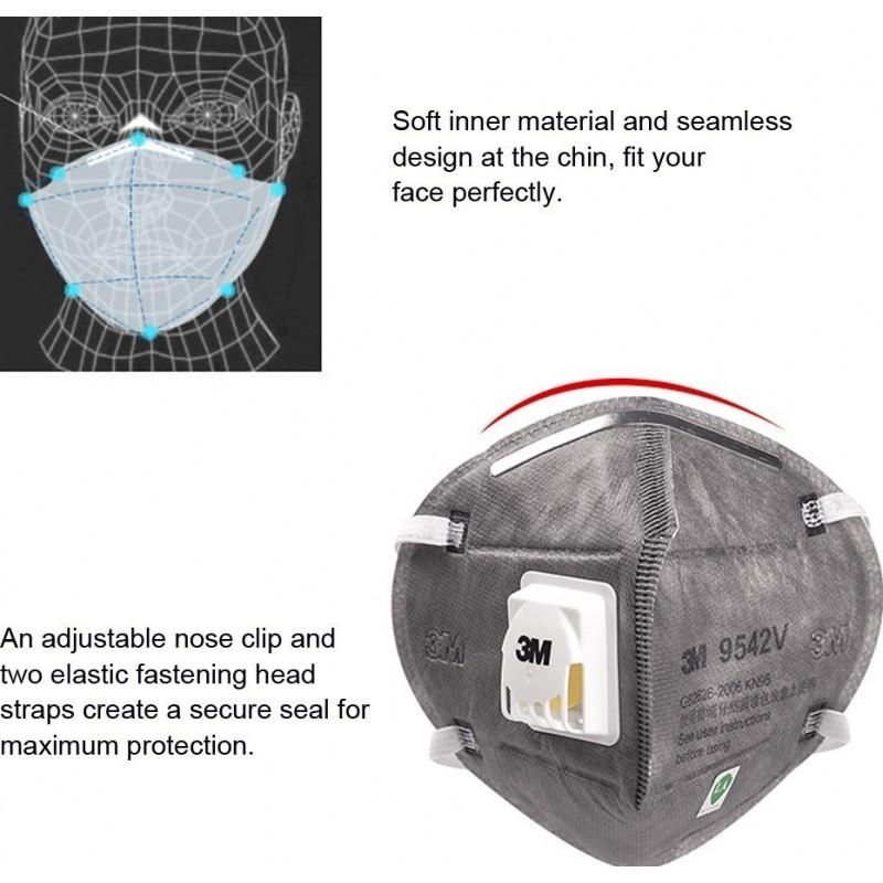 105,95 € Envio grátis | Caixa de 10 unidades Máscaras Proteção Respiratória 3M 9542V KN95 FFP2. Máscara de proteção respiratória com válvula. PM2.5. Respirador com filtro de partículas