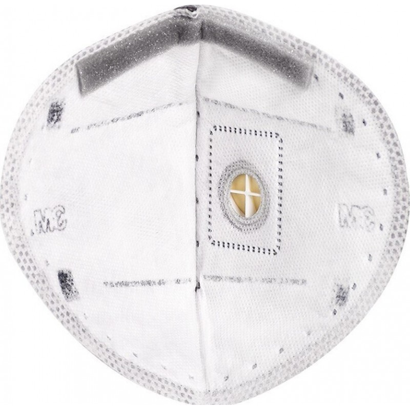 105,95 € Бесплатная доставка | Коробка из 10 единиц Респираторные защитные маски 3M 9542 В KN95 FFP2. Респираторная защитная маска с клапаном. PM2.5. Респиратор с фильтром частиц