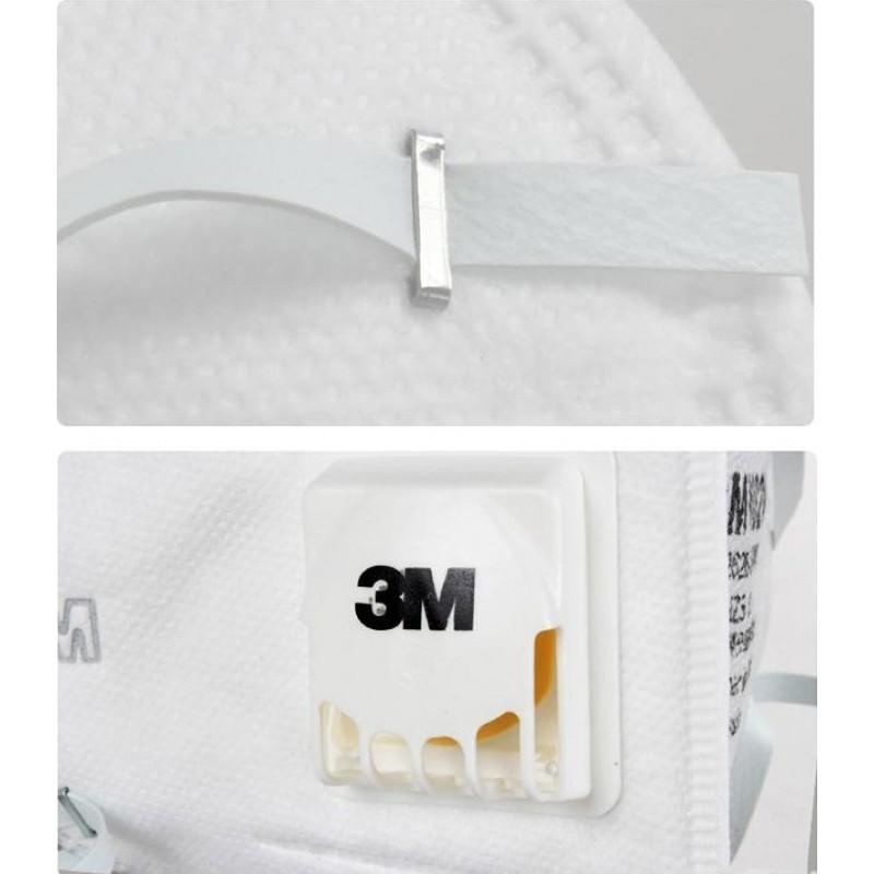 599,95 € Spedizione Gratuita | Scatola da 100 unità Maschere Protezione Respiratorie 3M 9502V KN95 FFP2. Maschera di protezione delle vie respiratorie con valvola. PM2.5 Respiratore con filtro antiparticolato