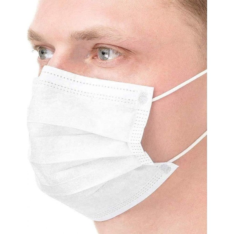 Caja de 200 unidades Mascarillas Protección Respiratoria Mascarilla sanitaria facial desechable. Protección respiratoria autofiltrante. Transpirable con filtro de 3 capas