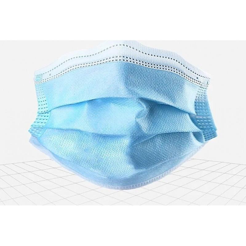 盒装100个 呼吸防护面罩 儿童一次性口罩。呼吸系统防护。 3层。防流感。柔软透气。非织造材料。 PM2.5