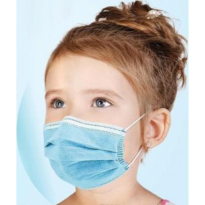 Коробка из 200 единиц Детская одноразовая маска. Защита органов дыхания. 3 слоя Анти-грипп. Мягкая дышащая. Нетканый материал. РМ2,5